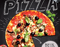 Pizza Flyer Menu Template
