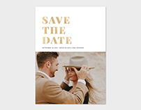 Save the Date Photo Card Template - Bold Text