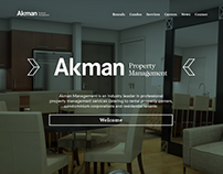 Akman Property Management - Web Design
