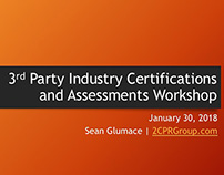 3rd Party Industry Certifications 1/30/18 - Speaking