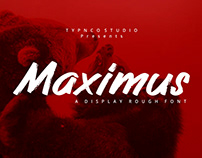 Maximus - Free Rough Brush Font