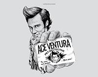 ACE VENTURA ilustracion