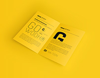 Free US Letter Bifold Brochure Mockup