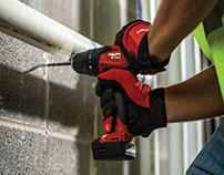 """Step by step guide, """"how to drill in concrete""""."""