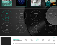 UI Design Concept for Online Music Streaming Website