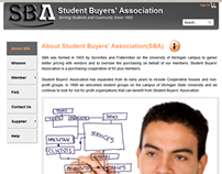 Student Buyers' Association (SBA) website design/dev