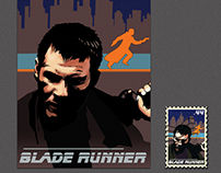 Blade Runner 30th Anniversary Poster and Stamp Design