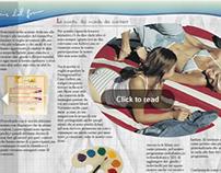 Editorial design || Progettazione magazine Contestland