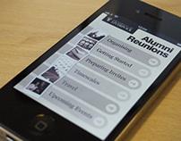 Alumni Reunions iOS App