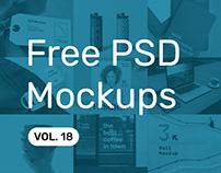 Free PSD Mockups vol. 18