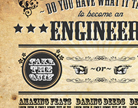 Engineering online quiz design concept