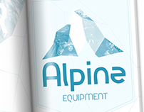"""Alpine Equipment"" Logo and Spec Ad"