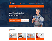 AAP AIR Website Mockup