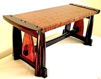 Coffee Table / Bench In Ebony & Bubinga