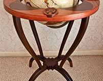 A Globe Stand In Bubinga & Wenge
