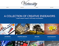 Virtuosity Portfolio Website Concept