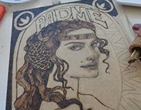 Padme Amidala Pirography