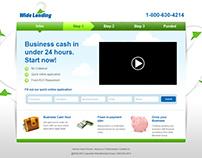 Wide Lending web