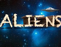 3D Aliens Typographic