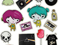 "Stickers ""Niñas Groseras"""