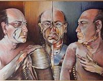 Self portrait 100x70 acrylic on canvas