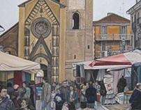 """""""Duomo con mercato"""" Chivasso"""