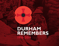 Durham Remembers branding.