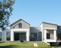 A bioclimatic house in Fares, Greece.
