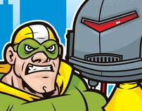 Superhero vs. Robot