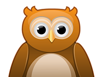 Owl mascot illustration