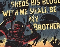 BAND OF BROTHERS WWII print for gallery show