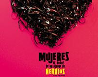 """Afiche """"MUJERES AL BORDE DE UN ATAQUE DE NERVIOS"""""""