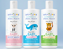 Baby cosmetics labels design
