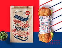 Mr.Kuba Sandwich bar / Fast food branding