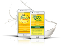 Nestlé NIDO FORTIFIED mobile website