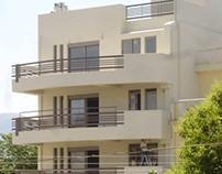 Multistorey building in Patras, Greece.