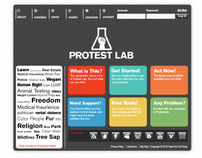 Protest Lab web site (screenshot video demostration)