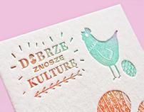 Letterpress easter card / National Culture Center