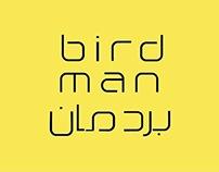 Birdman Arabic Typeface
