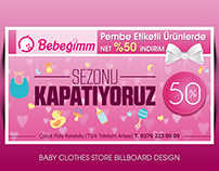 Bebeğim Clothes Store Billboard