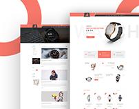 Watch E Commerce web concept