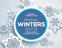 Minimal Winters Party Flyer Templates