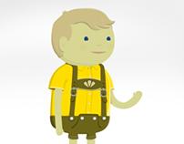 Lederhosen Customizable Portrait