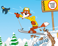 CARTOONING | AUSTRIAN SKI SLOPES