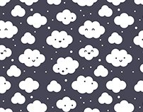 Happy clouds with snow pattern