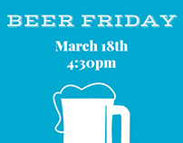 Beer Friday Poster - COA Event