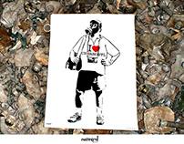 The Chernobyl Tourist - stencil poster
