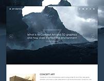 Theme Blog Art Graphics (Responsive Design Web)