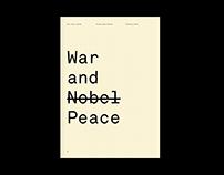War and Nobel Peace