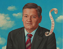 Ted Sarandos CEO Netflix, Portrait for Wired UK